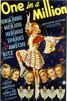 One In A Million, Sonja Henie, 1936 Poster