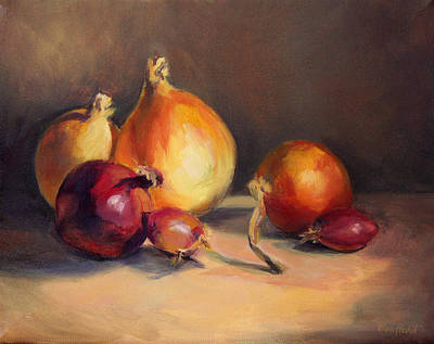 Poster featuring the painting Onions Etc. by Vikki Bouffard