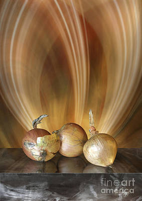 Poster featuring the digital art Onions by Johnny Hildingsson