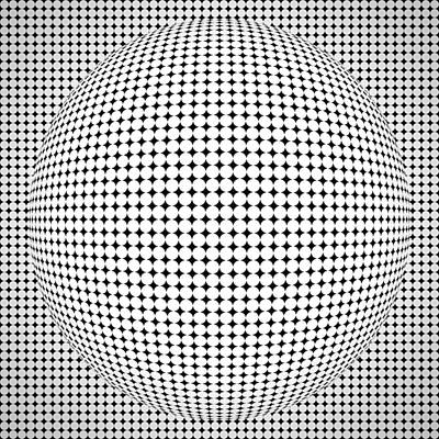 Optical Illusion Ball Poster by Sumit Mehndiratta