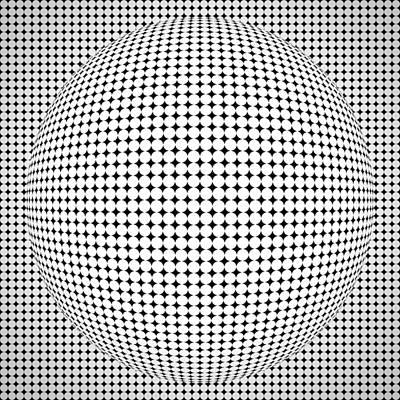Optical Illusion Ball Poster