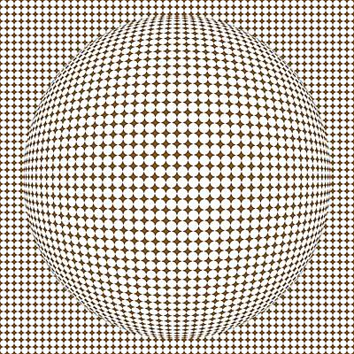 Optical Illusion Brown Ball Poster by Sumit Mehndiratta