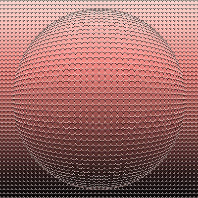 Optical Illusion Pink Ball Poster by Sumit Mehndiratta
