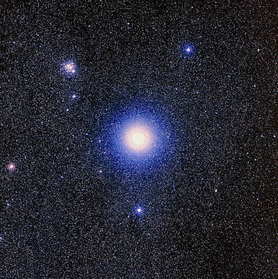 Optical Image Of The Star Mimosa, Or Beta Crucis Poster by Celestial Image Co.