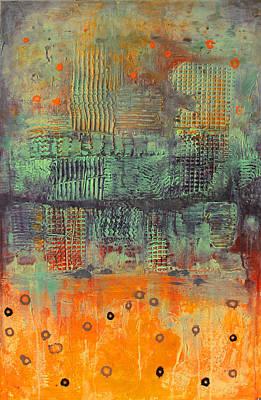 Orange Abstract Poster by Lolita Bronzini
