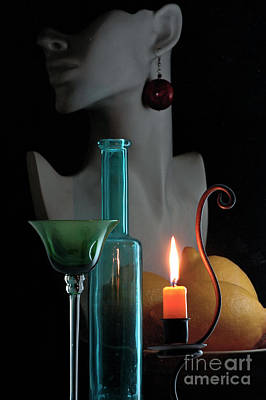 Poster featuring the photograph Orange Candle by Elf Evans