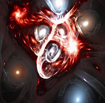 Orbit Explosion - A Fractal Design Poster by Gina Lee Manley