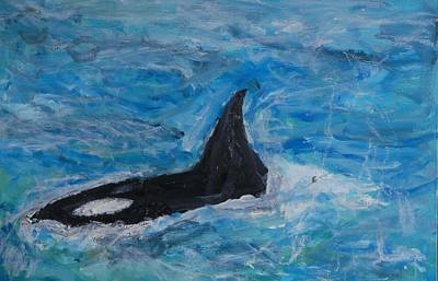 Orca Poster by Iris Gill
