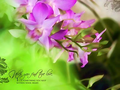 Orchid Art Poster by Dumindu Shanaka