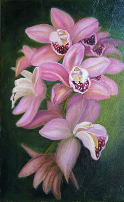 Poster featuring the painting Orchids by Marlyn Boyd
