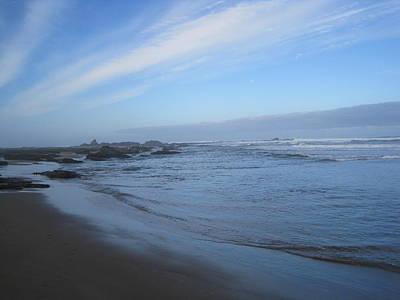 Poster featuring the photograph Oregon Coast In Blue by Karen Molenaar Terrell