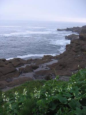 Poster featuring the photograph Oregon Coast Near Depoe Bay by Karen Molenaar Terrell