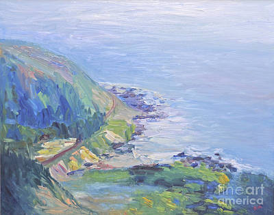 Poster featuring the painting Oregon Coastline by Barbara Anna Knauf