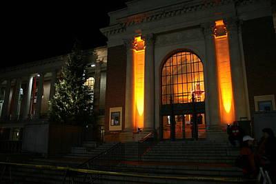 Oregon State Orange Lights At Memorial Union Poster