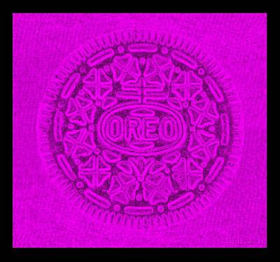 Oreo In Purple Poster by Rob Hans