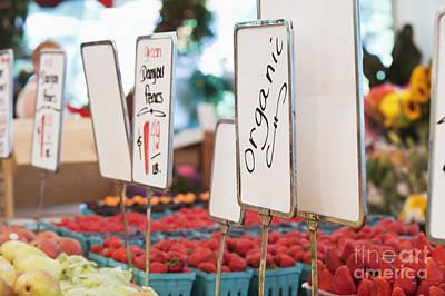 Organic Produce On Display Poster