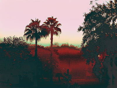 Original Fine Art Digital Gulf Coast Misty Morning Poster