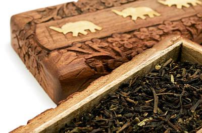 Ornate Box With Darjeeling Tea Poster