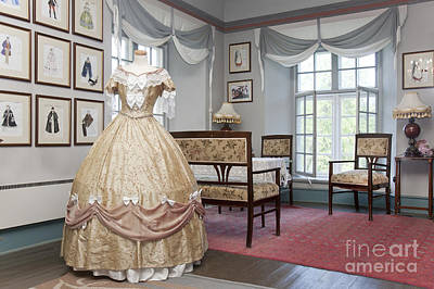 Ornate Dress And Classic Fashion Designs Poster