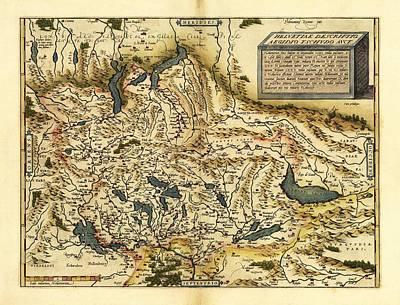 Ortelius's Map Of Switzerland, 1570 Poster