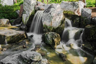 Osaka Garden Waterfall Poster