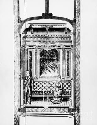 Otis Hotel Elevator, 1881 Poster by Granger