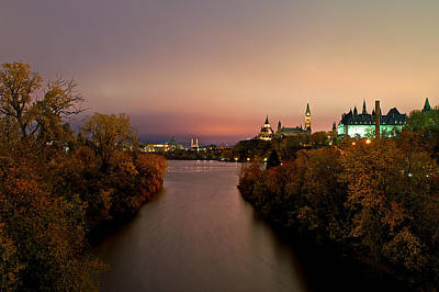 Ottawa At Night Poster by Andre Faubert