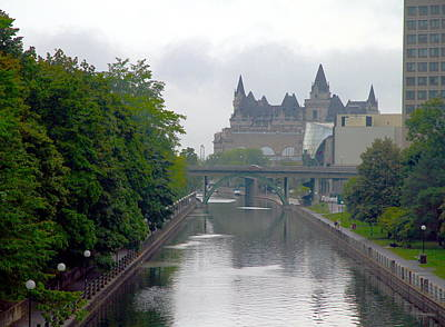 Ottawa Rideau Canal Poster by Valentino Visentini