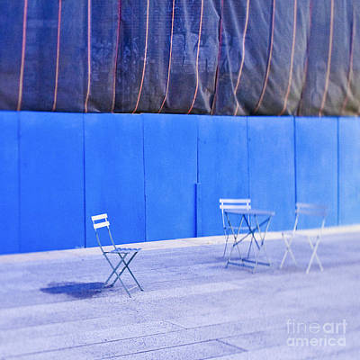 Outdoor Chairs And Table Poster by Eddy Joaquim