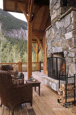 Outdoor Fireplace Poster by Robert Pisano