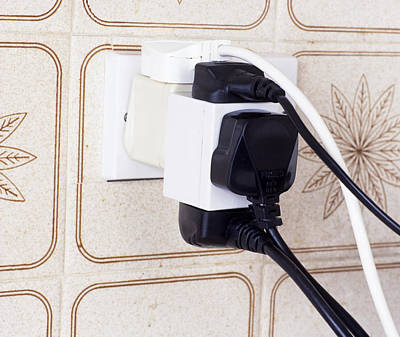 Overloaded Plug Socket Poster by Andrew Lambert Photography
