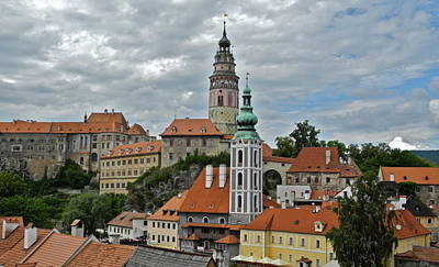 Poster featuring the photograph Overview Of Cesky Krumlov by Kirsten Giving