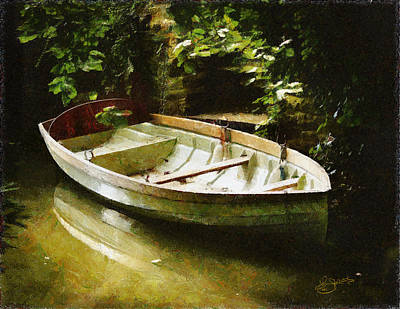 Oxford Boat And Dock Poster