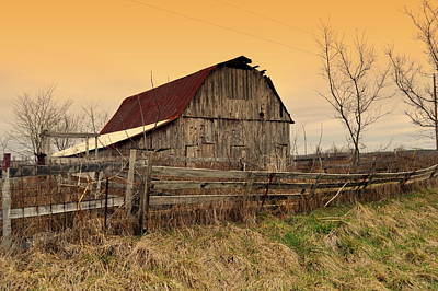 Poster featuring the photograph Ozark Barn 1 by Marty Koch