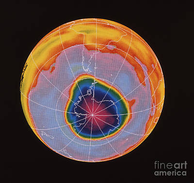 Ozone Hole Over Antarctica Poster by NASA / Science Source