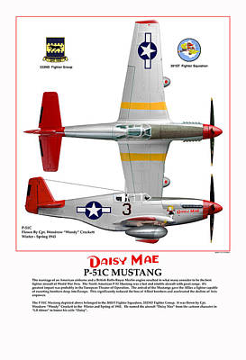 P-51c Daisy Mae Poster by Jerry Taliaferro