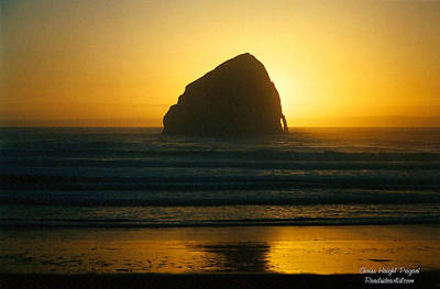 Poster featuring the photograph Pacific City Sunset by Chriss Pagani