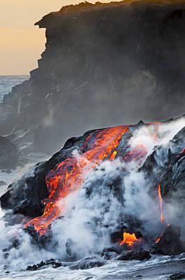 Pacific Lava Flow V Poster