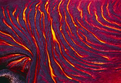 Pahoehoe Lava From Kilauea Volcano Poster