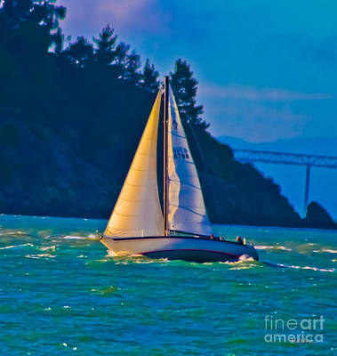 Painted Sails Poster by Mitch Shindelbower