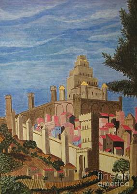 Painting   Medieval City Poster by Judy Via-Wolff