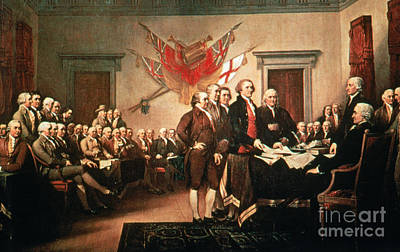 Painting Declaration Of Independence Poster by Photo Researchers, Inc.