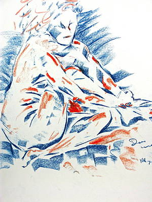 Poster featuring the drawing Painting Nails by Brian Sereda