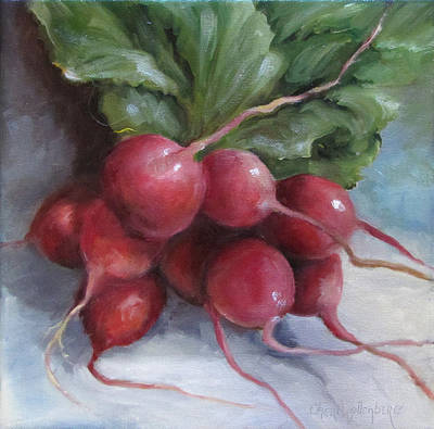 Painting Of Radishes Poster