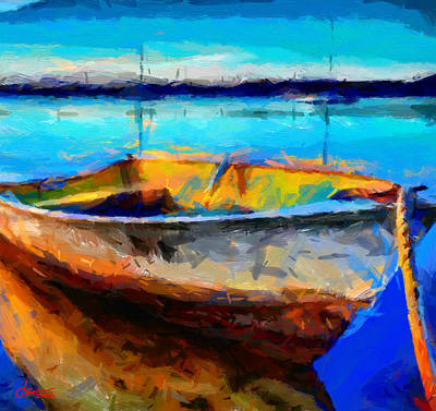 Painting With A Boat Tnm Poster by Vincent DiNovici