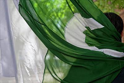 Pakistani Day Parade 7 31 11 Nyc Pakistani Flag Poster by Robert Ullmann