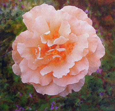 Poster featuring the painting Pale Orange Begonia by Richard James Digance