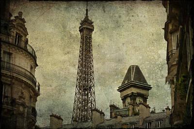 Pale Paris Poster by Georgia Fowler