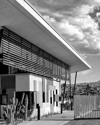 Palm Springs Animal Shelter Bw Palm Springs Poster by William Dey
