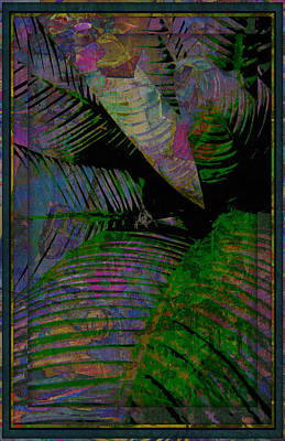 Palms Abstract Poster by Mindy Newman